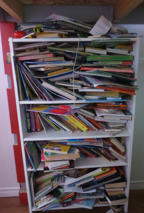 Kids' Bookshelf Before