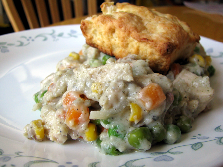 Chicken Pot Pie with Baking Powder Biscuits