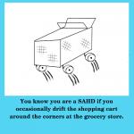 SAHD Drifting a Shopping Cart
