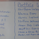 Homeschool Portfolio Todo list