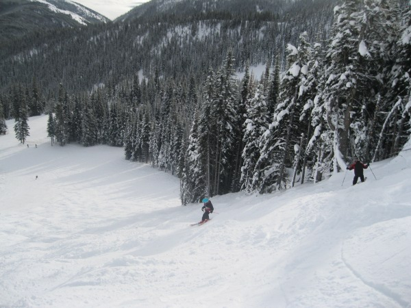 Skiing Black Diamond Sun Bowl Apex