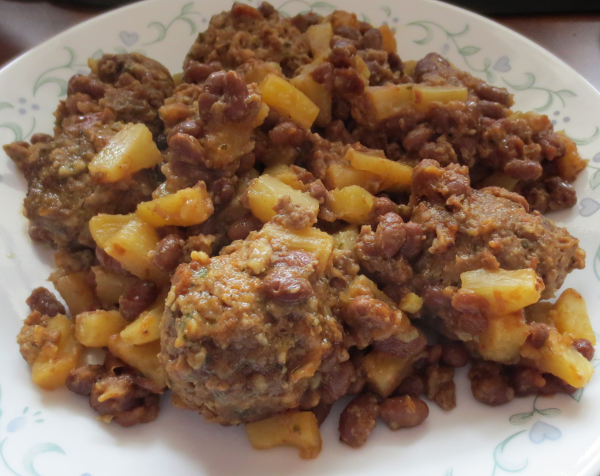 Beans Meatballs Pineapple