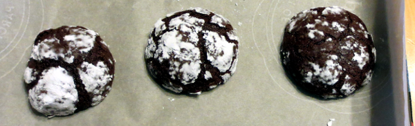 Chocolate Crinkle Cookies Cooked