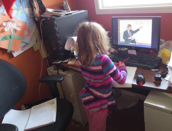 Margaret First Day Homeschooling Sortof