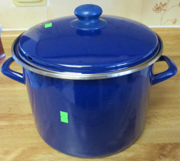 My new enamel coated cast iron stock pot