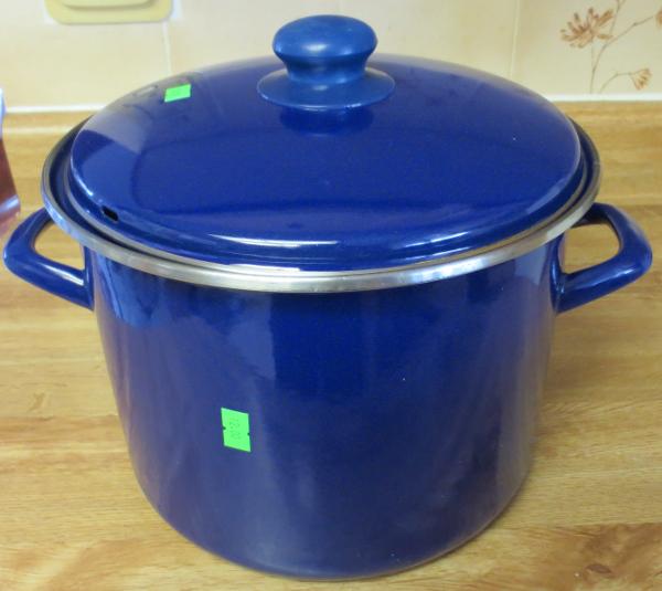 My new enamel coated cast iron stock pot