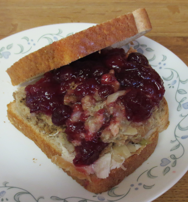 Turkey Cranberry Stuffing Sandwich