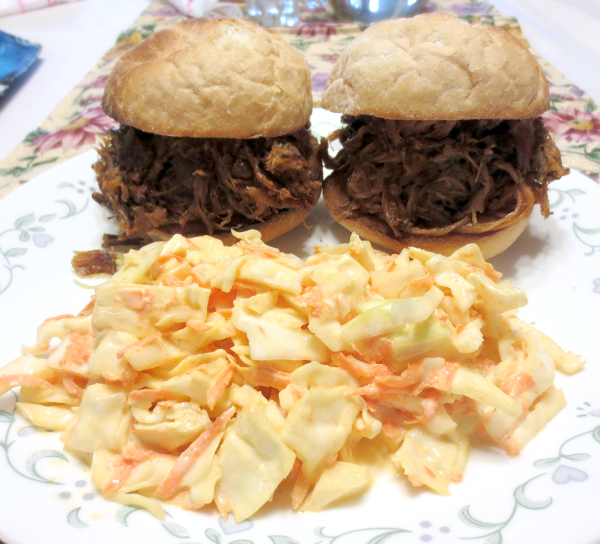 Pulled Pork Sandwiches and Slaw