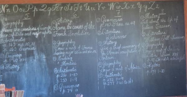 School House Blackboard