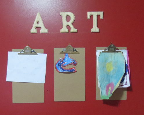 Homeschool Art Display