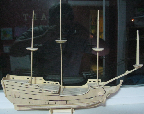 Sailing ship model almost finished