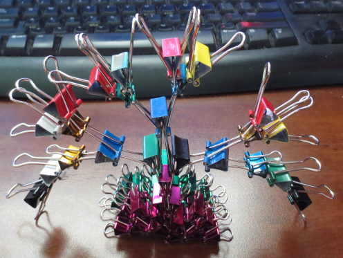 binder clip sculpture