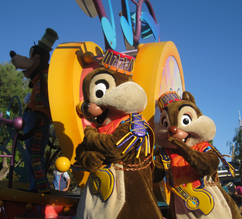 Disneyland Parade Chip and Dale