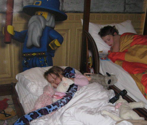 Kids out cold at Legoland hotel