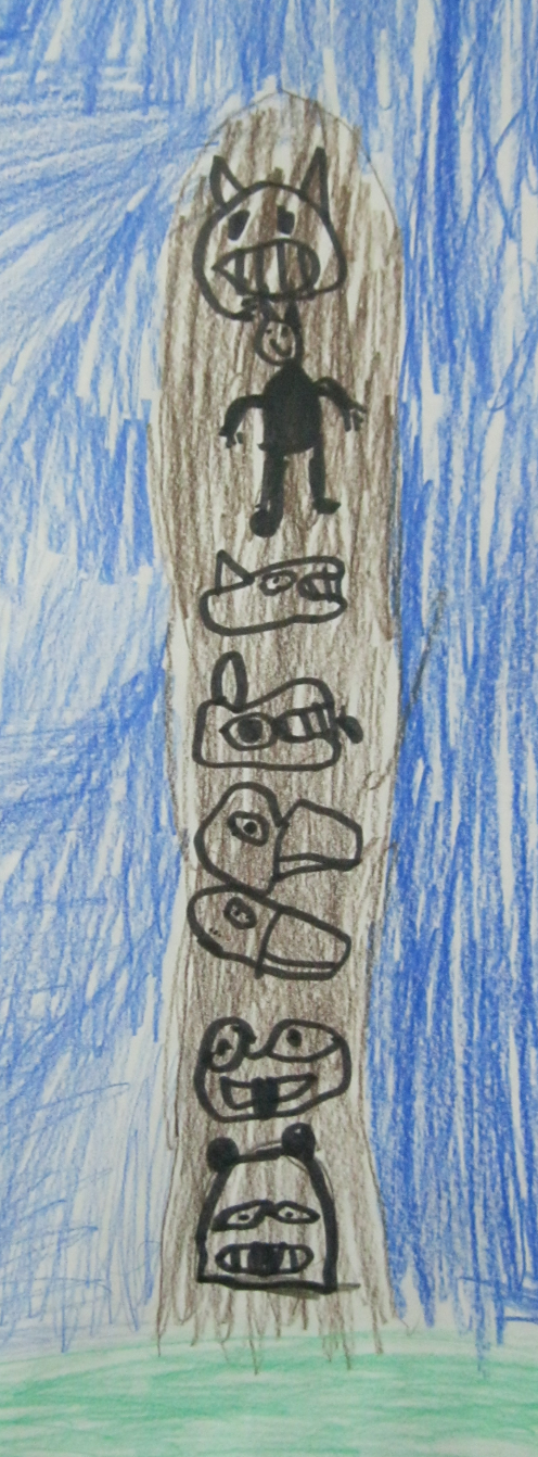 Margaret's Totem Pole Sketch