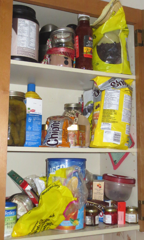 Cupboard before