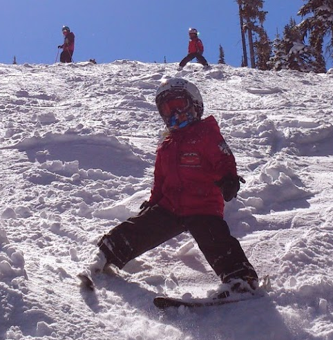 Ian Skiing Bumps