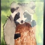 Margaret's Watercolor Raccoon
