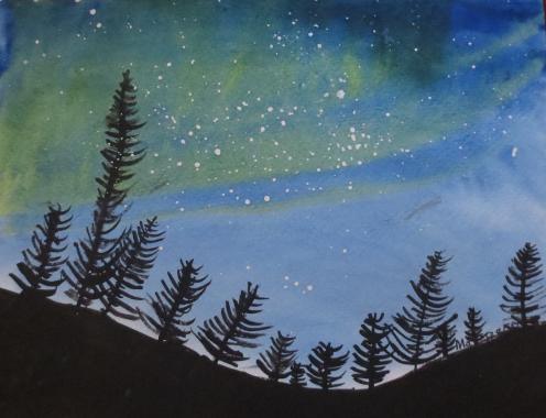 Margaret Night Sky Painting