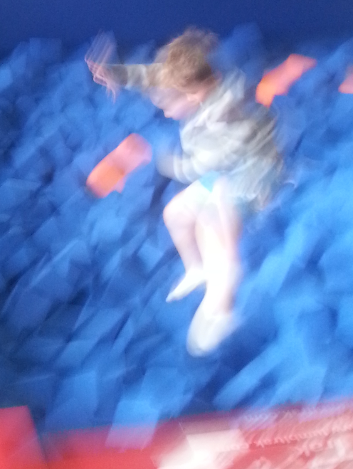 Ian doing a 180 into the foam pit