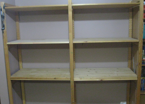 Downstairs Shelves Empty