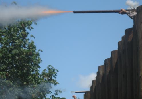 Fort Langley Musket Firing
