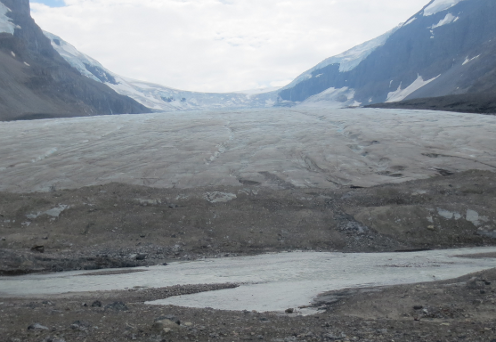 As close as we can get to the Athabasca Glacier
