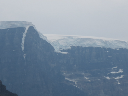 Depth of Snow above Athabasca Glacier