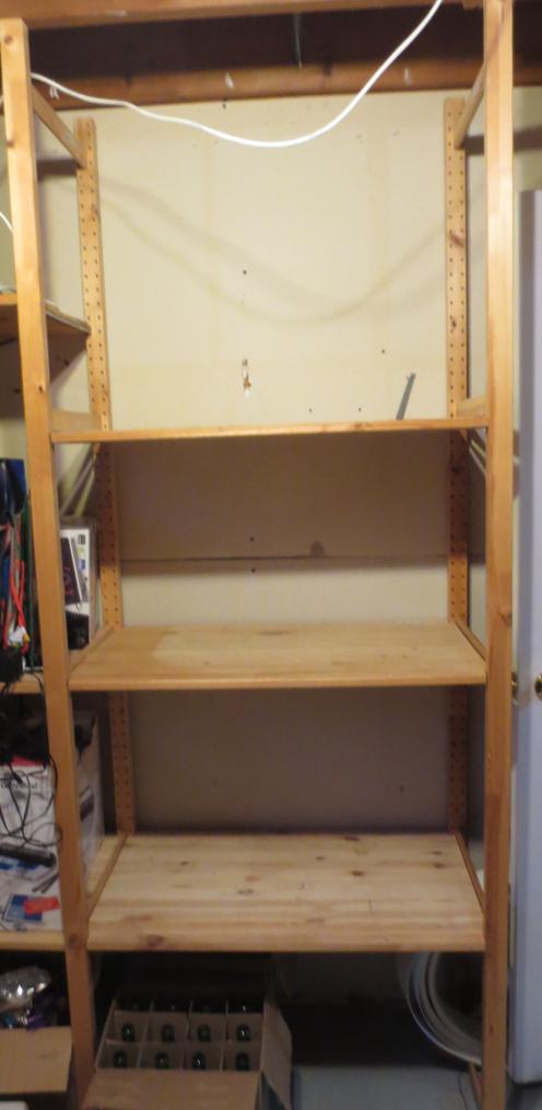 Basement Shelves Finished