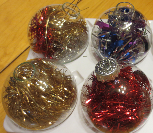 Tinsel Glass Ornaments