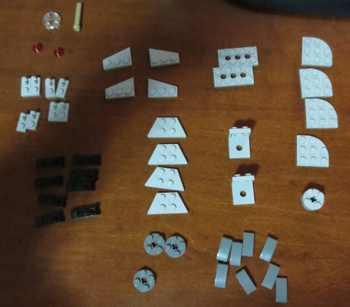 Lego part laid out