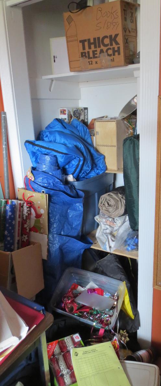 Craft Room Closet Before