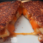 Grilled Three Cheese and Apple