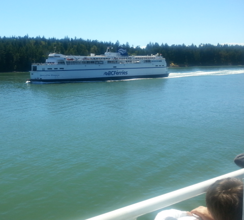 Active Pass Ferry Passing