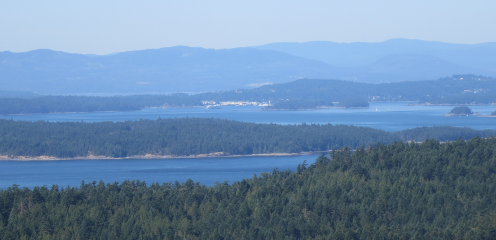 View of Swartz Bay from Mount Norman