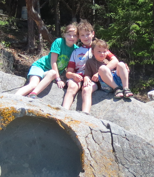 Kids on a Rock