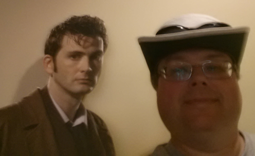 Me and Cardboard Tenth Doctor Selfie