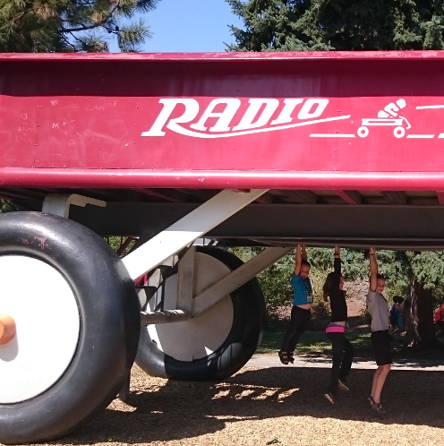 Giant Red Radio Flyer